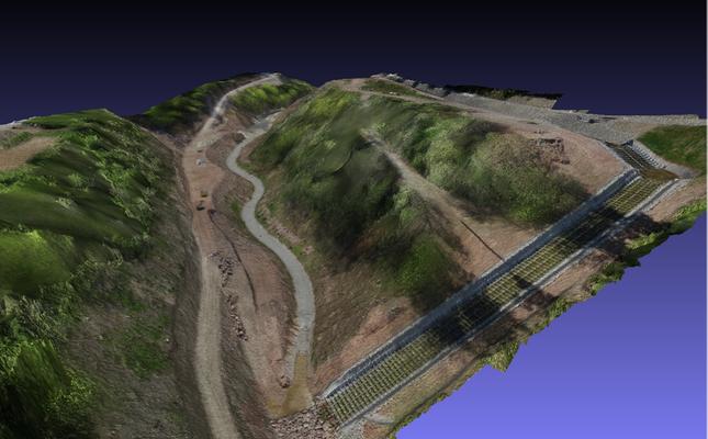 3D-Geländemodell in verschiedenen Perspektiven