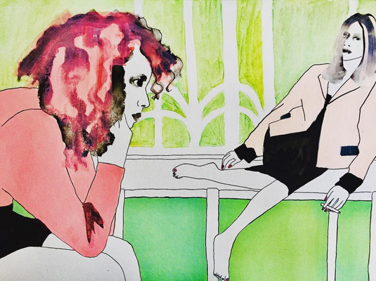 'Nothing Left To Say' / mixed media on paper / size 38 cm x 28 cm / € 100,-