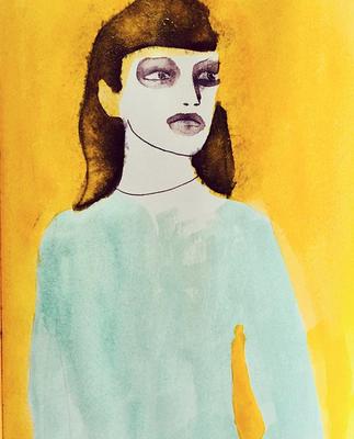 'Cruel Summer' / mixed media on paper / size 29 cm x 20 cm / € 50,- / Anja de Boer 2017