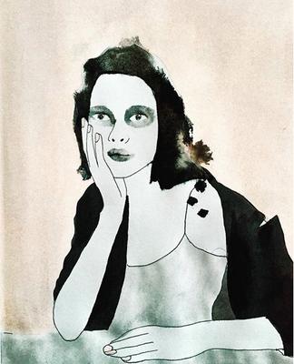 'Feeling Quite Lost' / mixed media on paper / size 29 cm x 20 cm / € 40,- / Anja de Boer 2017