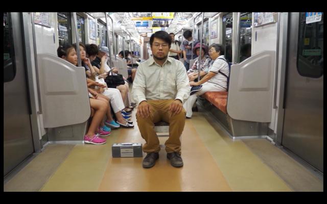 「2014年5月8日 ゴヤさん、今日も日本は能天気」2 山田裕介 2014年 コンクリート DVDプレーヤー 布
