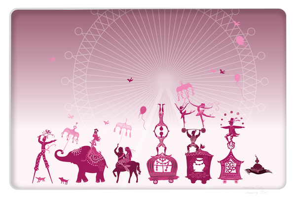 Wandbild Zirkus - pink