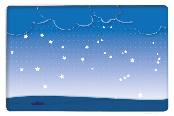 Wandbild Sterne überm Meer