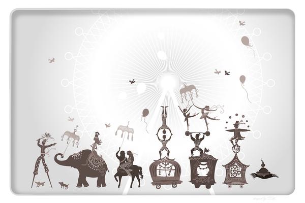 Wandbild Zirkus - grau