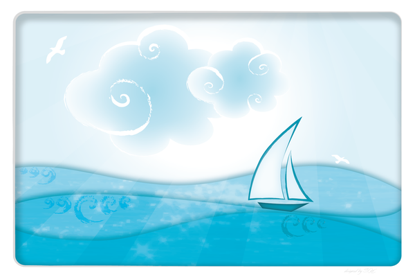 Wandbild Meer mit Boot