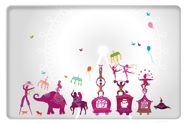 Wandbild Zirkus Parade