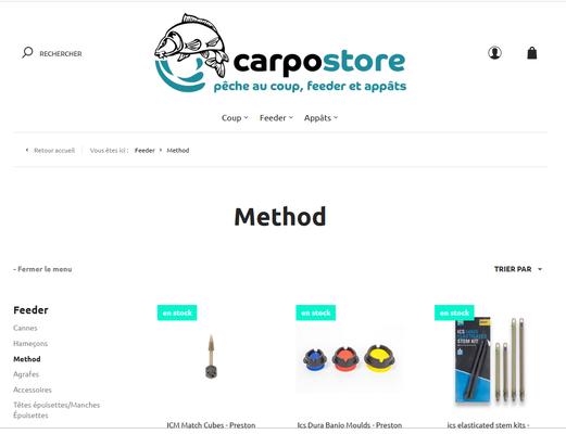 Carpostore.com, boutique en ligne pour le Carpodrome