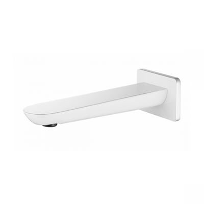 HYB11-801CW Kara Bathroom White Chrome Wall Spout