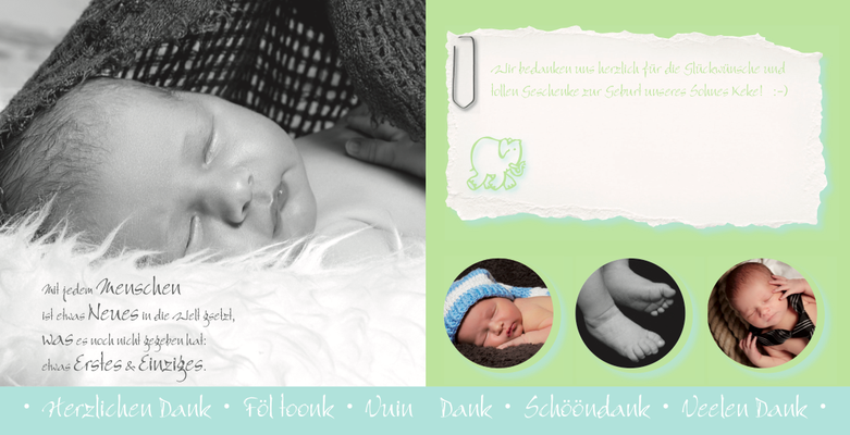 Geburtskarten & Danksagungen zur Geburt aus dem Ideenreich
