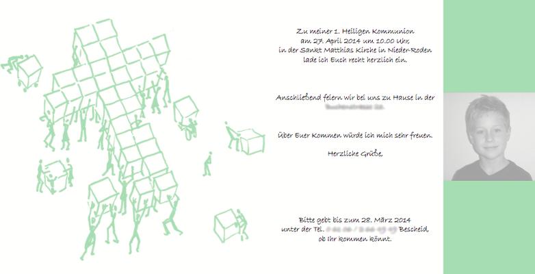 Einladungen, Danksagungen & Karten zur Kommunion und Konfirmation von Ideenreich