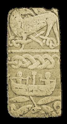 Thors Fischzug, Detail des Kreuzes von Gosforth, 10. Jahrhundert