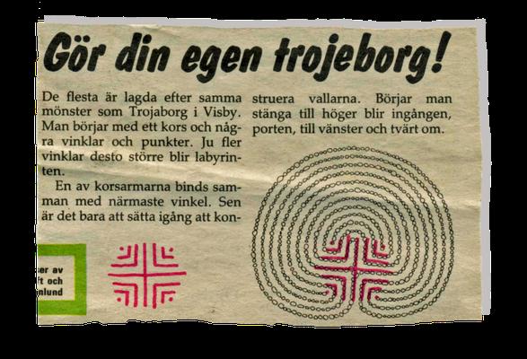 Ausriß einer schwedischen Zeitung