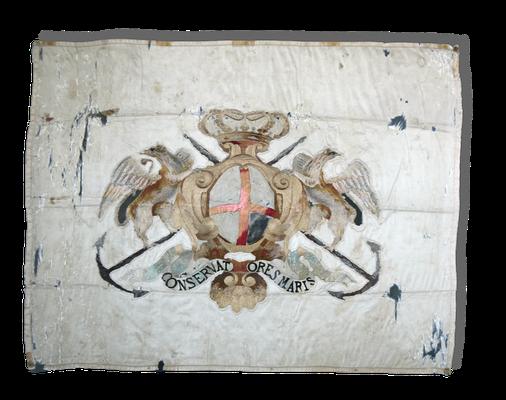 Fahne der Genueser Zollbehörde, 17. Jahrhundert