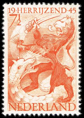 Briefmarke der niederländischen Post, 1945