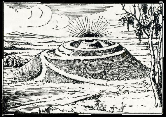 """""""Die Sonnenburg"""", Zeichnung aus Elisabeth Köster: Das Wandervolk, 34. Auflage, Langensalza o. J. (nach 1933)"""