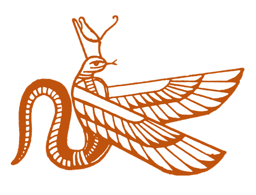 Uadjet, die Titulargottheit des ägyptischen Nordreichs als geflügelte und gekrönte Kobra