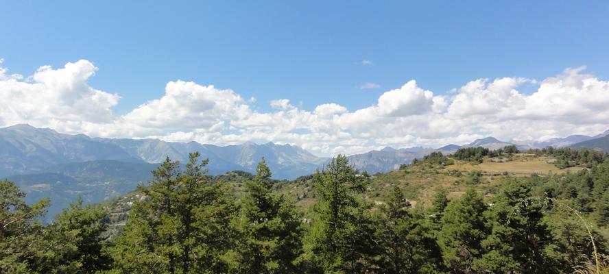Das Panorama oben auf dem Valberg