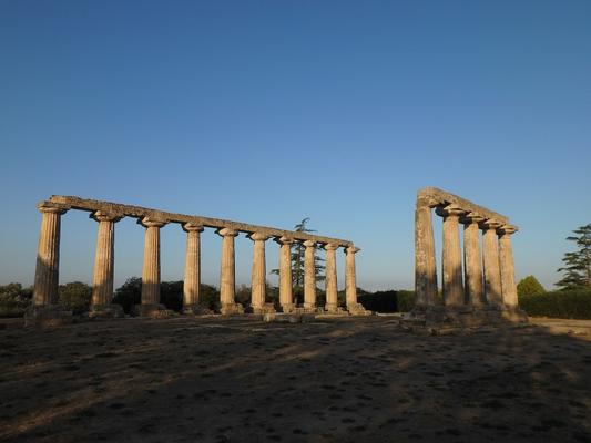 Die griechische Tempelanlage der Palatinischen Tafeln in Metapont.
