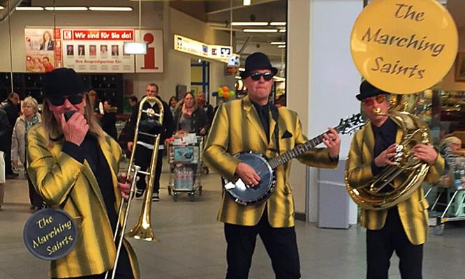 mobile Musik im Einkaufscenter