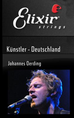Johannes Oerding. Website elixirstrings.de, 2011