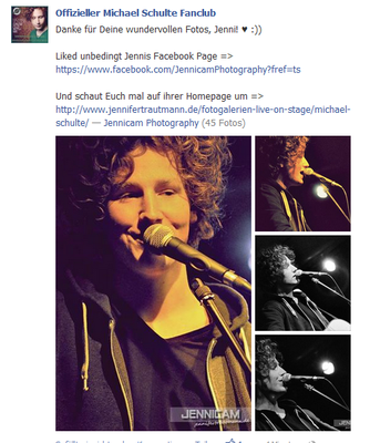 Michael Schulte Fanclub. Facebook. 5/2013