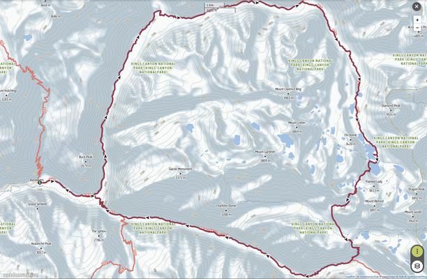 Rae Lakes Runde im Kings Canyon National Park