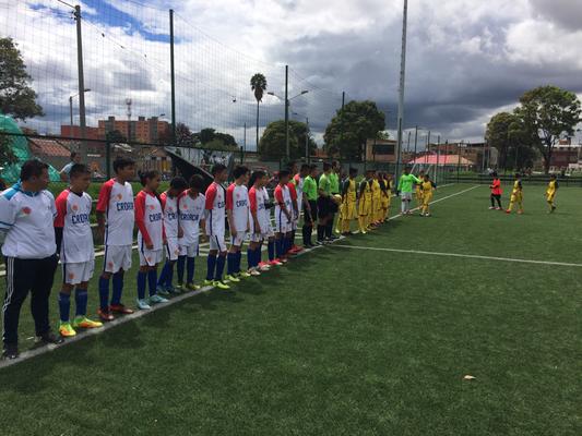 Estadio Olaya Herrera, San Pablo (Croacia) vs. Águilas Doradas (Australia) . Mundialito 2018