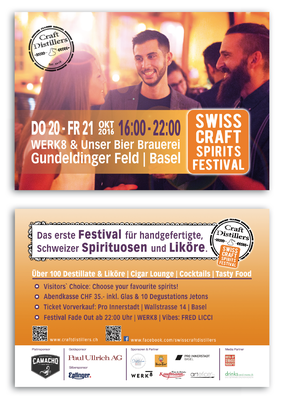 Flyer Swiss Craft Spirits Festival, 2016