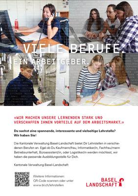 Inserat Berufswahlagenda 2018, A5 Inserat, Finanz- und Kirchendirektion BL