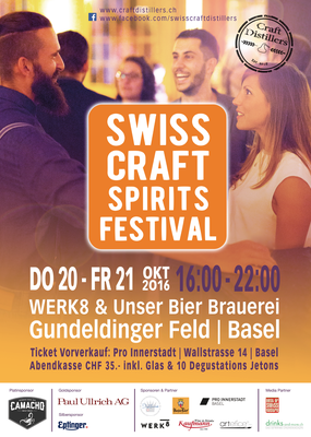 Poster Swiss Craft Spirits Festival, 2016