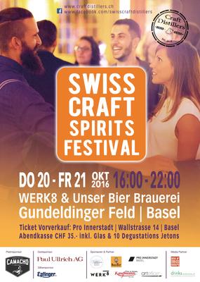 Poster Swiss Craft Spirits Festival, 2016