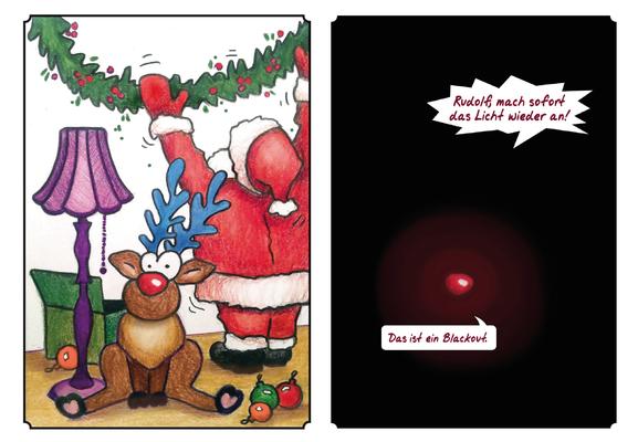 """Weihnachtskarte, """"Blackout"""", AMB BL, 2016"""