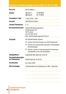 Kursbroschüre 2015, Auszug