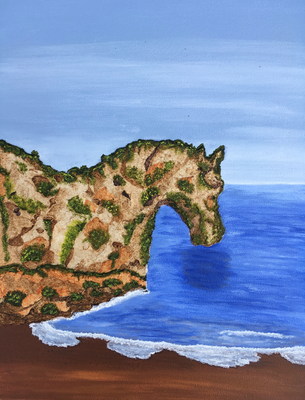Rock Horse / Mixed Media on Canvas Board 38x46cm