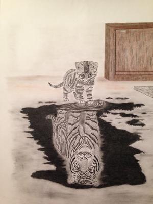 Kitty Tiger / Kohle A3