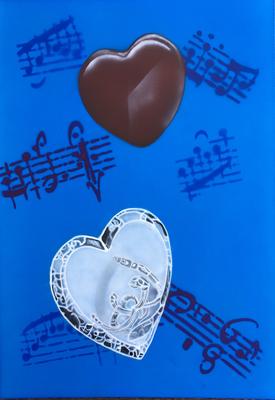 Heart Sound / Cardboard 25.3x36.3cm