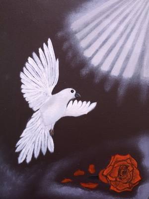 Dove / Canvas Sheet 30x40cm
