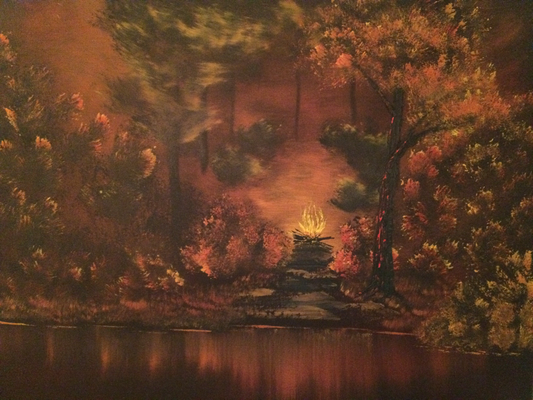 Campfire / Canvas Board 45x60cm