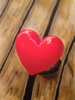 Red Heart / Cardboard 25.3x36.3cm