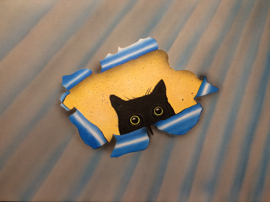 Nero the Cat / Cardboard 25.3x36.3cm