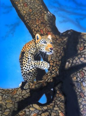 Leopard / Cardboard 25.3x36.3cm
