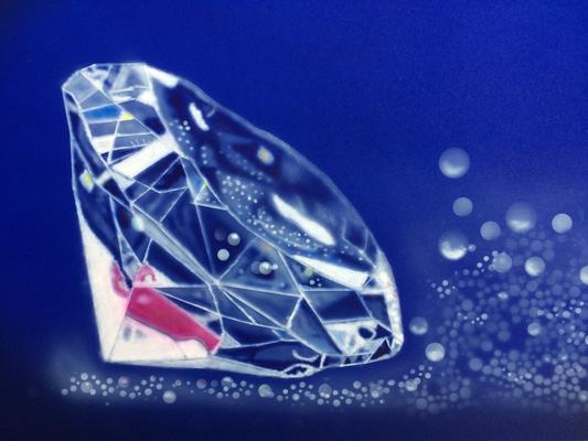 Diamond / Cardboard 25.3x36.3cm