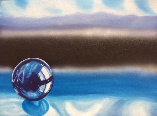 Blue Marble / Canvas Sheet 30x40cm