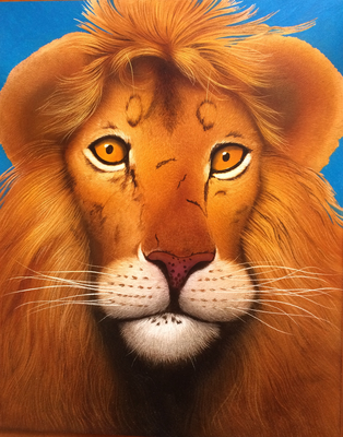 Lion / Paint Board 40x50cm