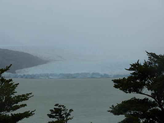 Voilà le glacier Grey ! Même pas ce temps, c'est trop beau!