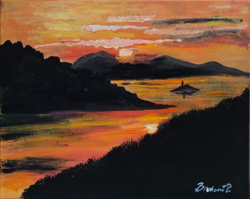 Abendrot - Acryl auf Leinwand, 50x40 cm, 2013, P. Brodaric
