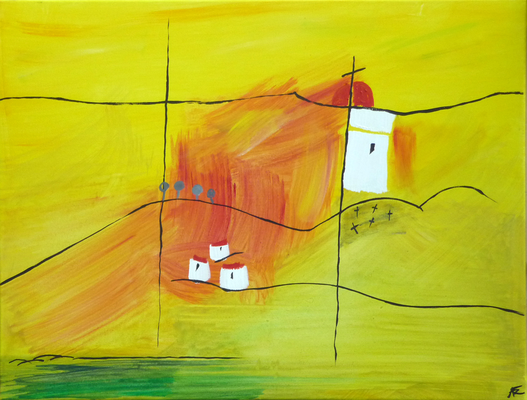 Am Anger - Acryl auf Leinwand, 80x60 cm, 2012, A. Frosch-Radivo