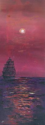Traumreise - Acryl auf Leinwand, 30x80 cm, 2016, H. Halbritter - VERKAUFT