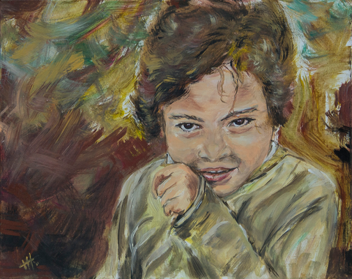 Zigeunermädchen - Acryl auf Leinwand, 50x40 cm, 2016, H. Halbritter - VERKAUFT