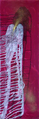 Goldschnabel - Acryl auf Leinwand, 30x90 cm, 2012, M. Weber
